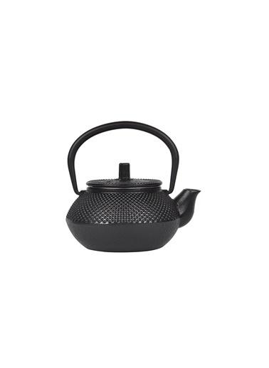 Taşev Linden - Sümbül 300 ml Siyah Döküm Çaydanlık-Bambum